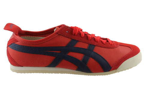 pretty nice 62e26 e59f1 Asics Onitsuka Tiger Mexico 66 Mens Leather Lace Up Casual Shoes