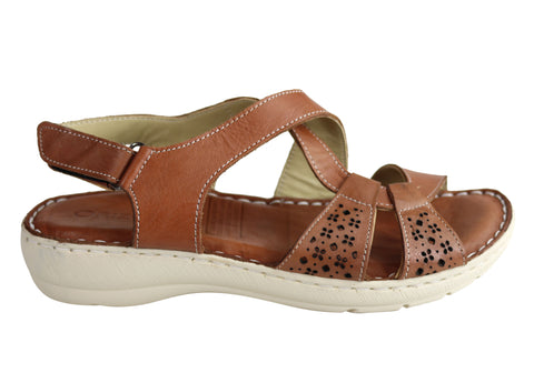 Orizonte Sharon Womens European Leather Comfortable Cushioned Sandals