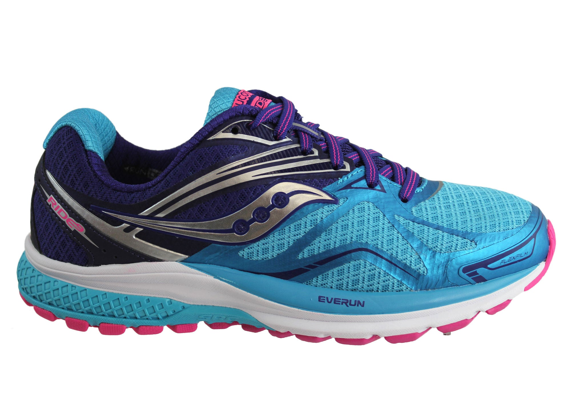 1bccd29c7e195 Saucony Ride 9 Womens Premium Cushioned (Wide Width) Running Shoes ...
