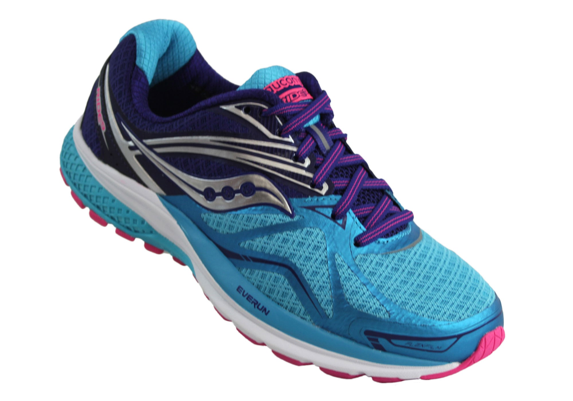 Saucony Ride 9 Womens Premium Cushioned Wide Width