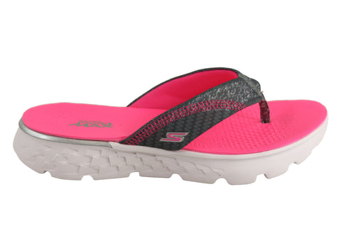 Skechers Kids/Girls On The Go 400 Lil Pizazz Comfort Thongs Flip Flops
