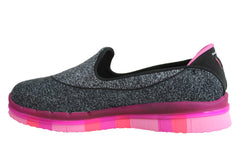 Skechers Go Flex Kids Girls Comfortable Slip On Shoes
