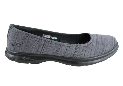Skechers Womens Go Step Trace Comfortable Memory Foam Flats