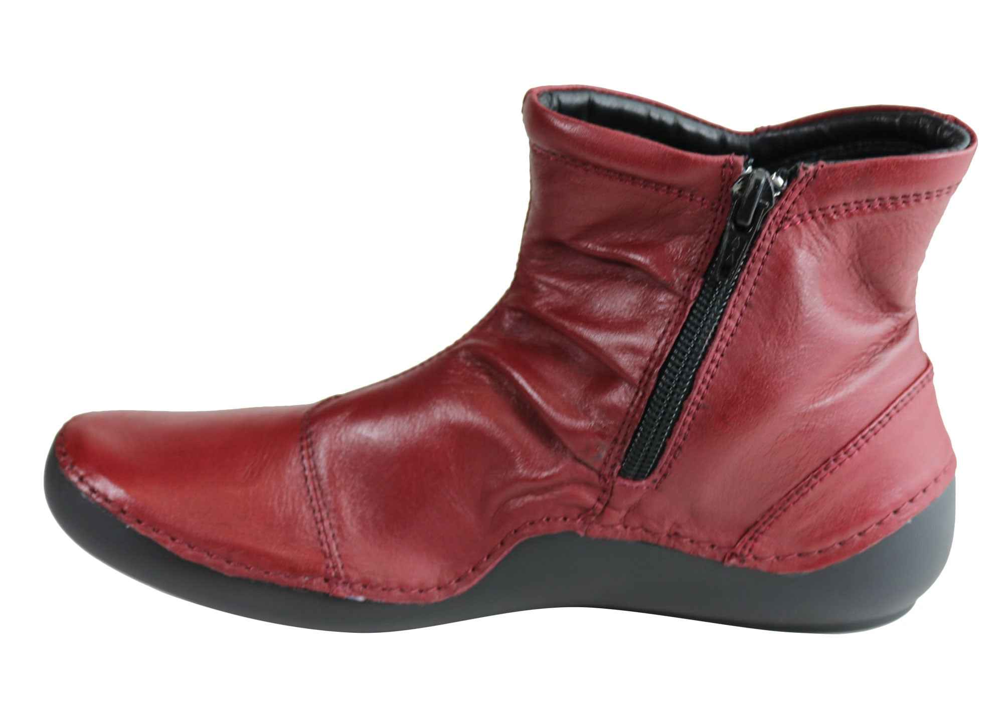 Orizonte Cidar Womens European Comfortable Soft Leather Ankle Boots