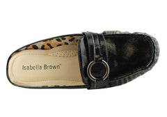 Isabella Brown Star Womens Comfortable Slip On Mules
