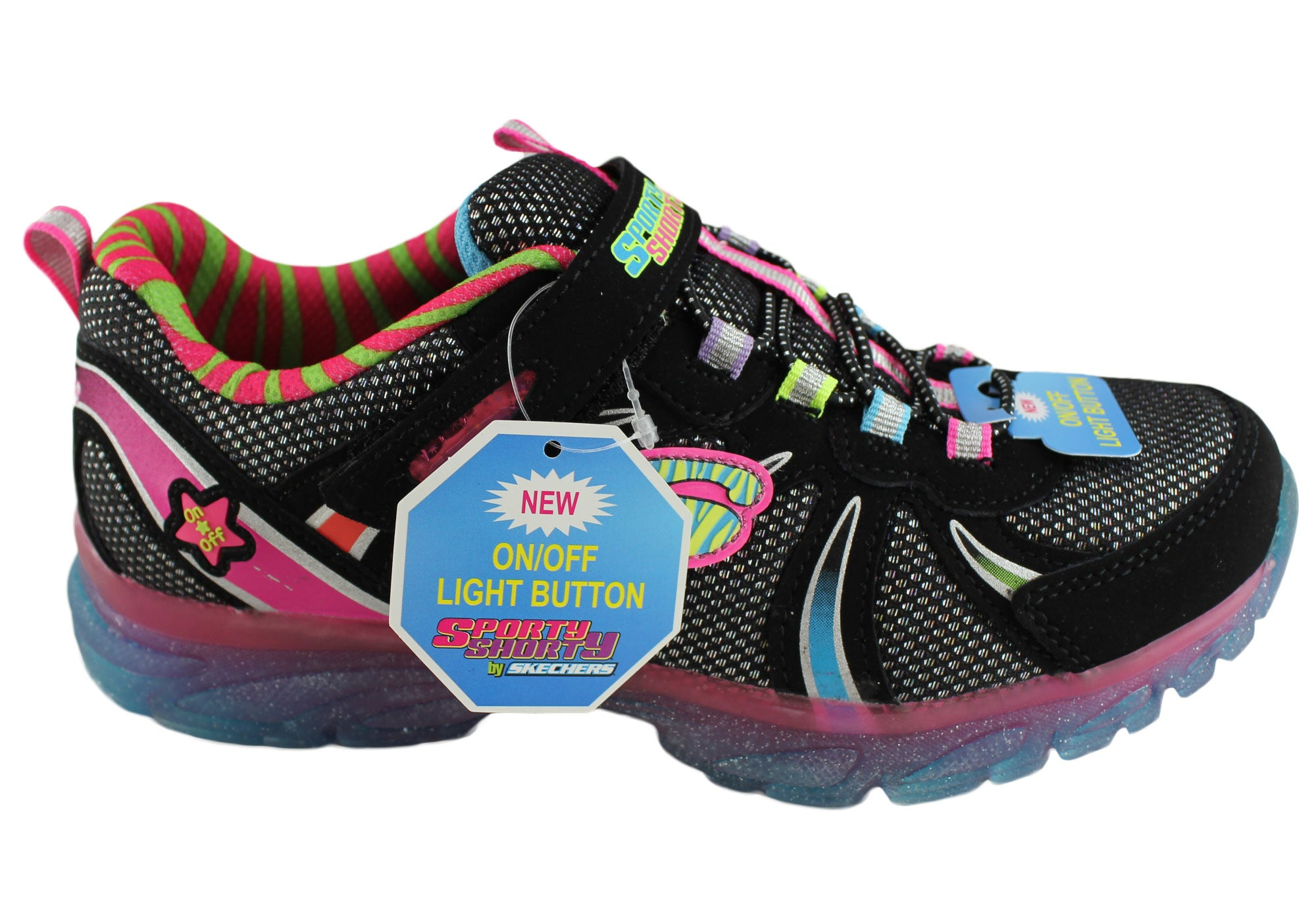 Skechers Kids Girls S Lights Glitzies Spark Upz