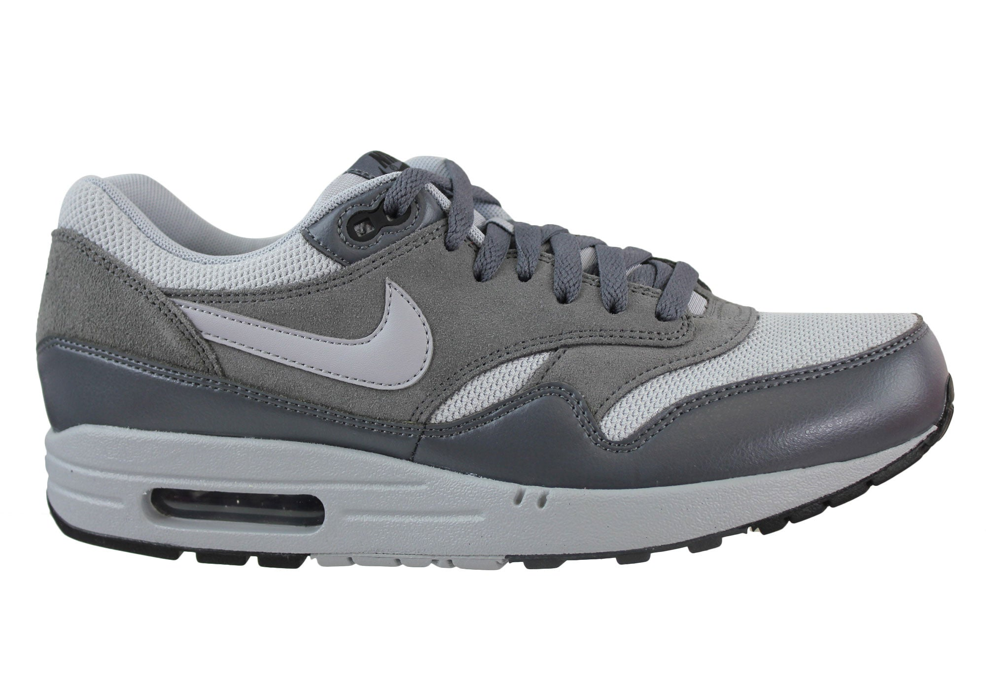 finest selection 7d2a2 1160f Home Nike Air Max 1 Essential Mens Casual Shoes. White Red  Wolf Grey ...