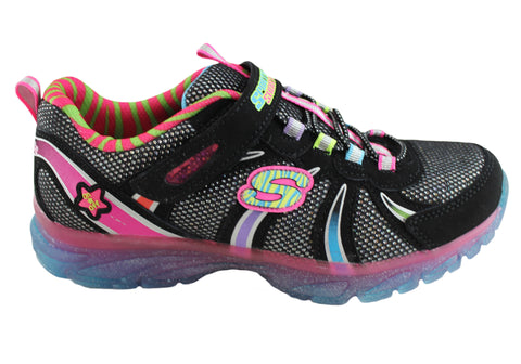 Skechers Kids Girls S Lights Glitzies Spark Upz Sneakers Shoes