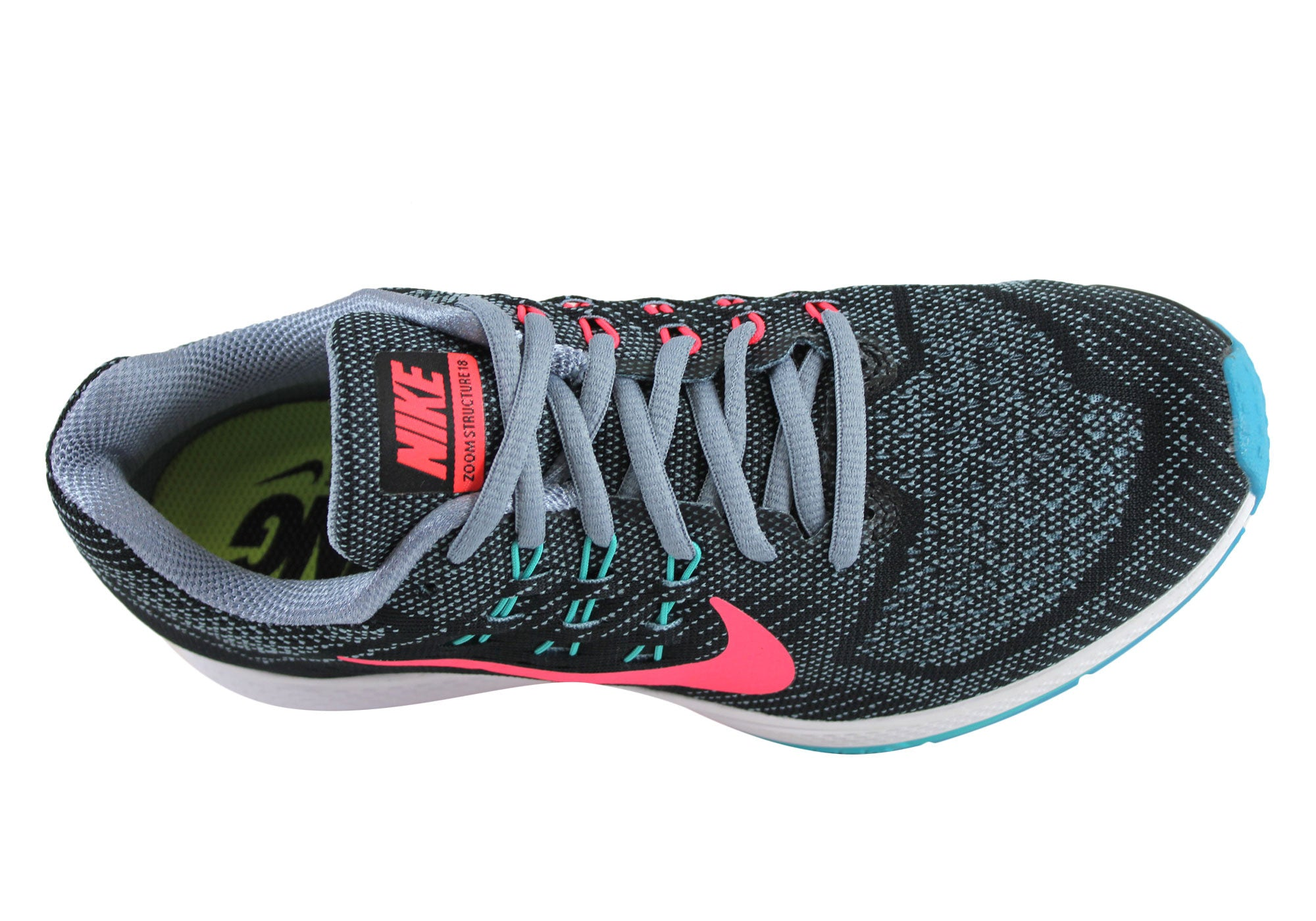 cheap for discount 286d1 61b15 Home Nike Air Zoom Structure 18 Womens Premium Cushioned Running Shoes. Grey Black Pink   Orange Black  Grey Black Pink ...