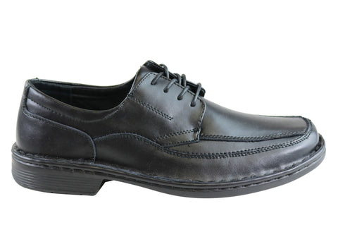 Grosby Bruce 2 Mens Leather Lace Up Dress Shoes