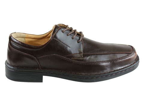 Grosby Bruce Mens Leather Lace Up Dress Shoes