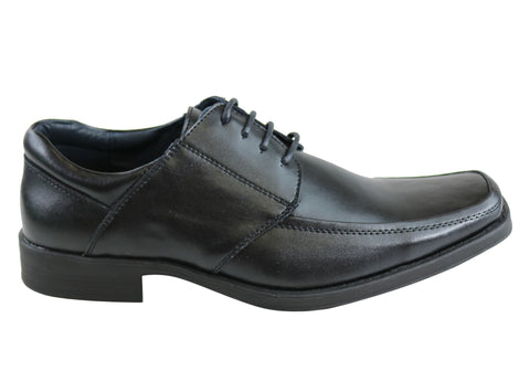Grosby Tom Mens Leather Lace Up Dress Shoes
