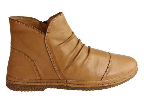 Orizonte Dion Womens European Comfortable Soft Leather Ankle Boots