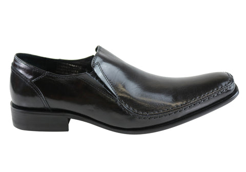 Knight Sleuf Mens Leather Slip On Dress Shoes