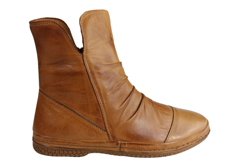 Orizonte Dice Womens European Comfortable Soft Leather Ankle Boots
