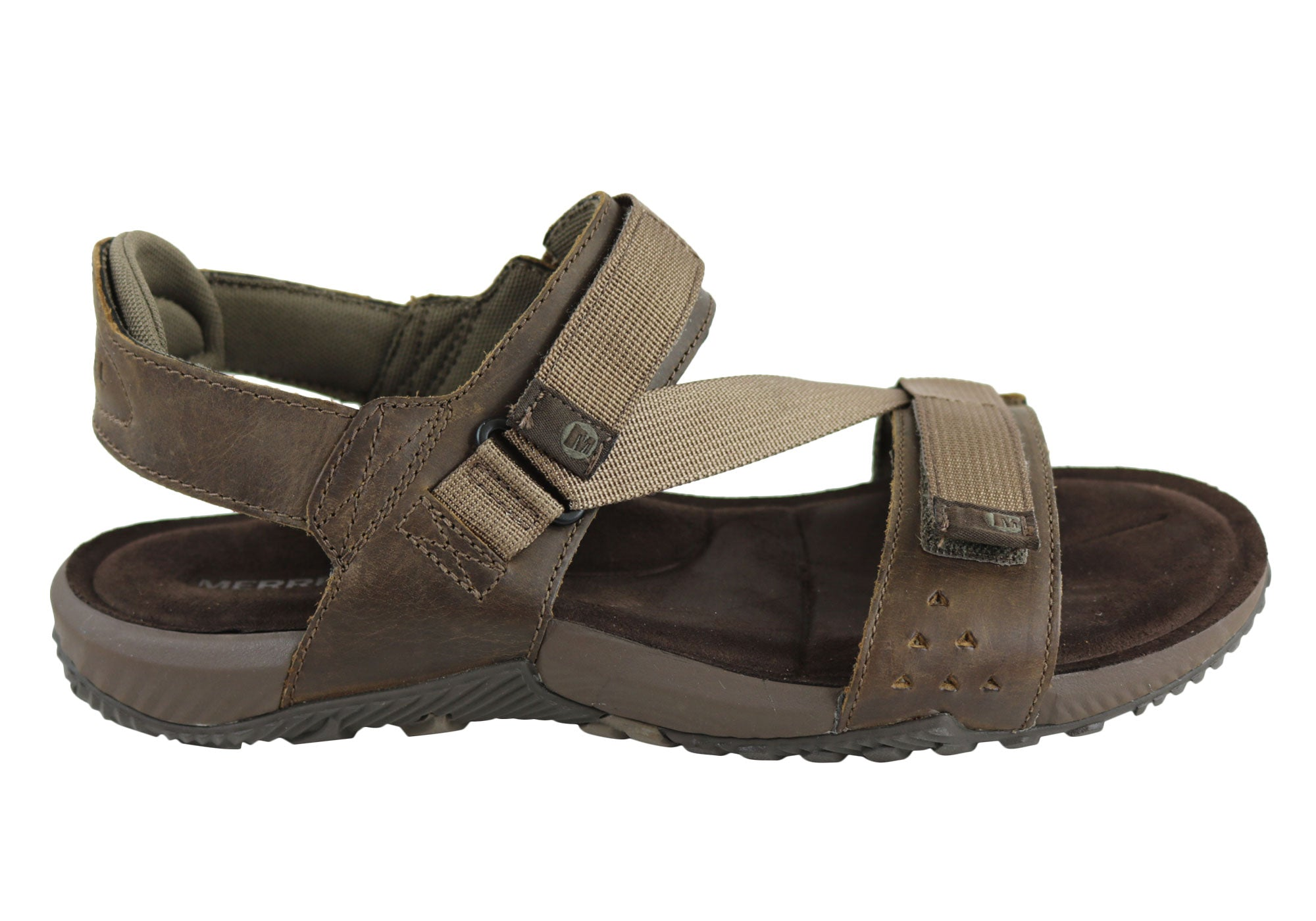 490c34d3b441 Details about Merrell Terrant Strap Mens Comfortable Cushioned Leather  Sandals