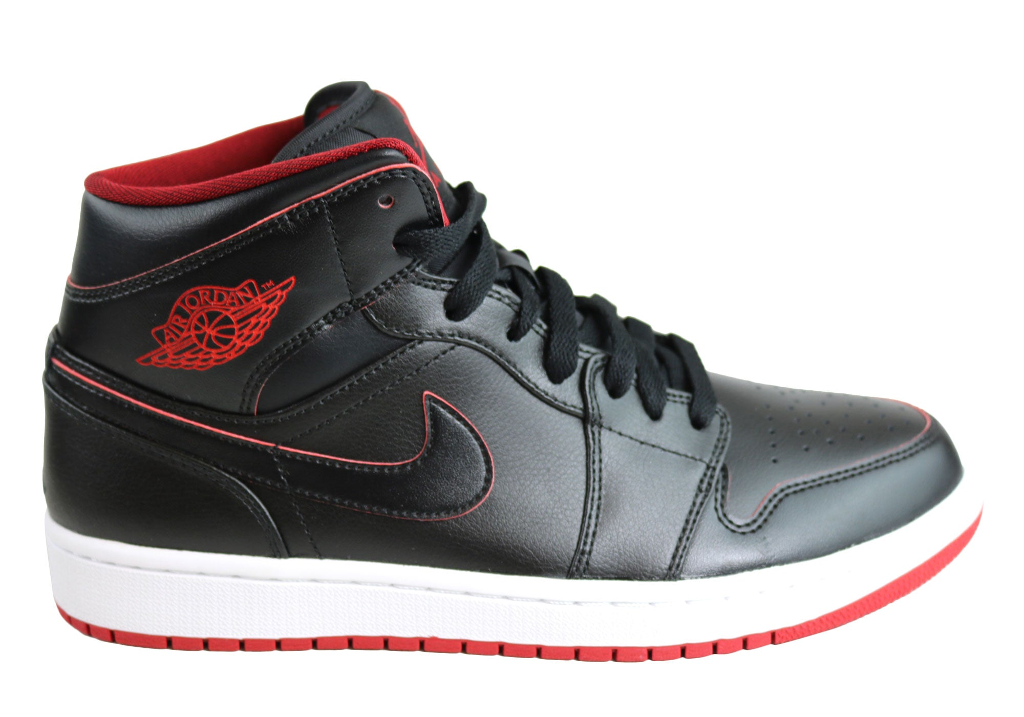 finest selection 59fce 97a1d Home Nike Air Jordan 1 Mid Hi Tops Basketball Shoes. Black White Red  Wolf  Grey ...