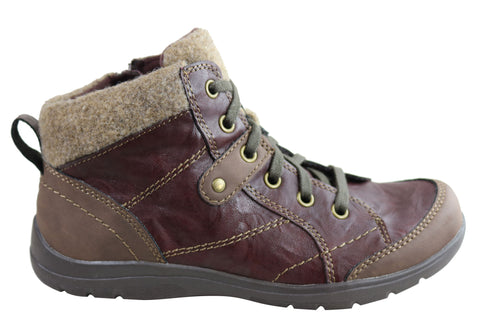 Planet Shoes Carlisle Womens Comfort Ankle Boots With Arch Support