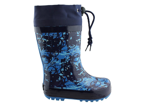 Grosby Splash Kids Rubber Rain Boots