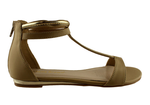 Isabella Brown Claude Womens Flat Gladiator Sandals