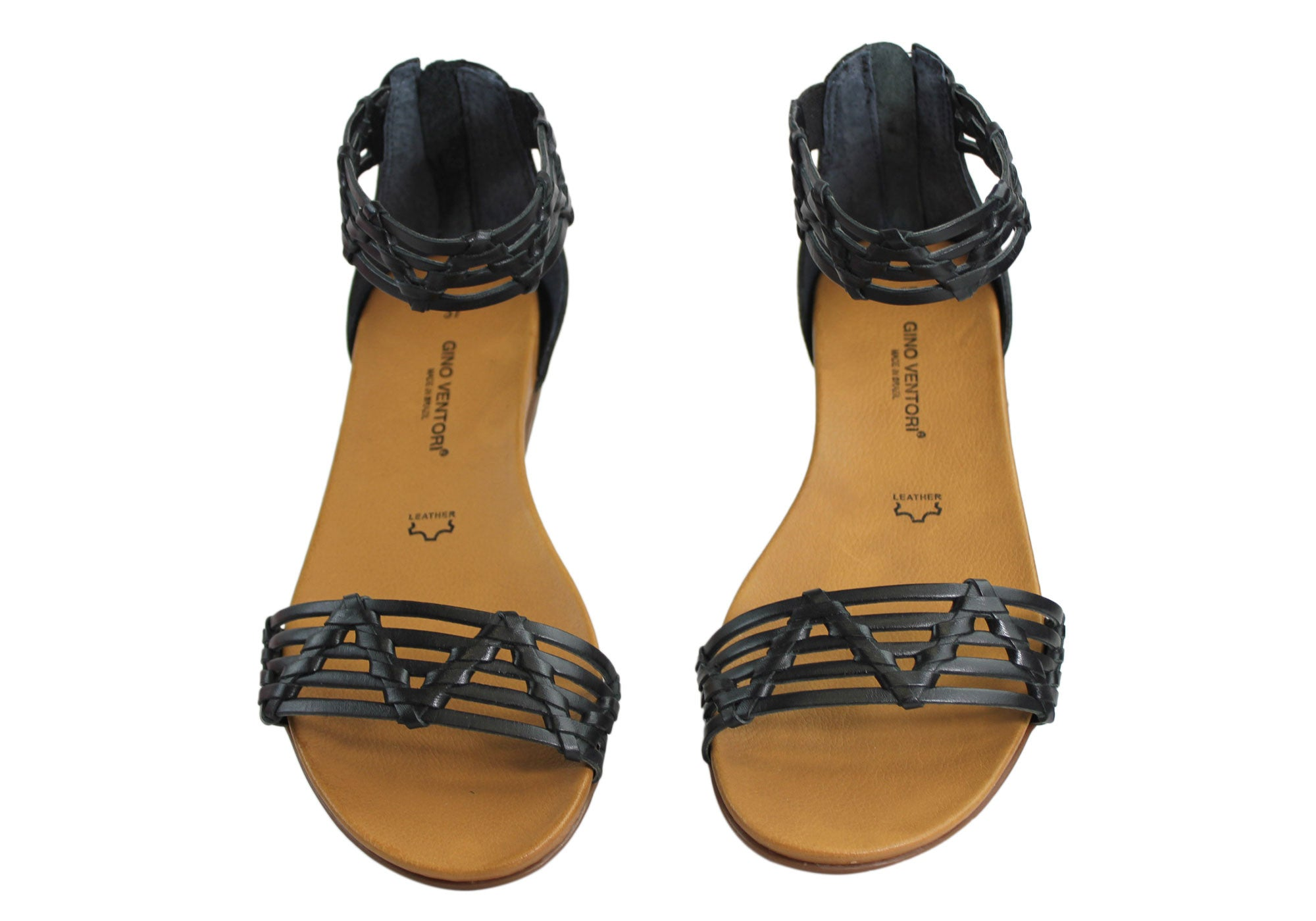 Gino Ventori Nellie Womens Leather Sandals Made In Brazil