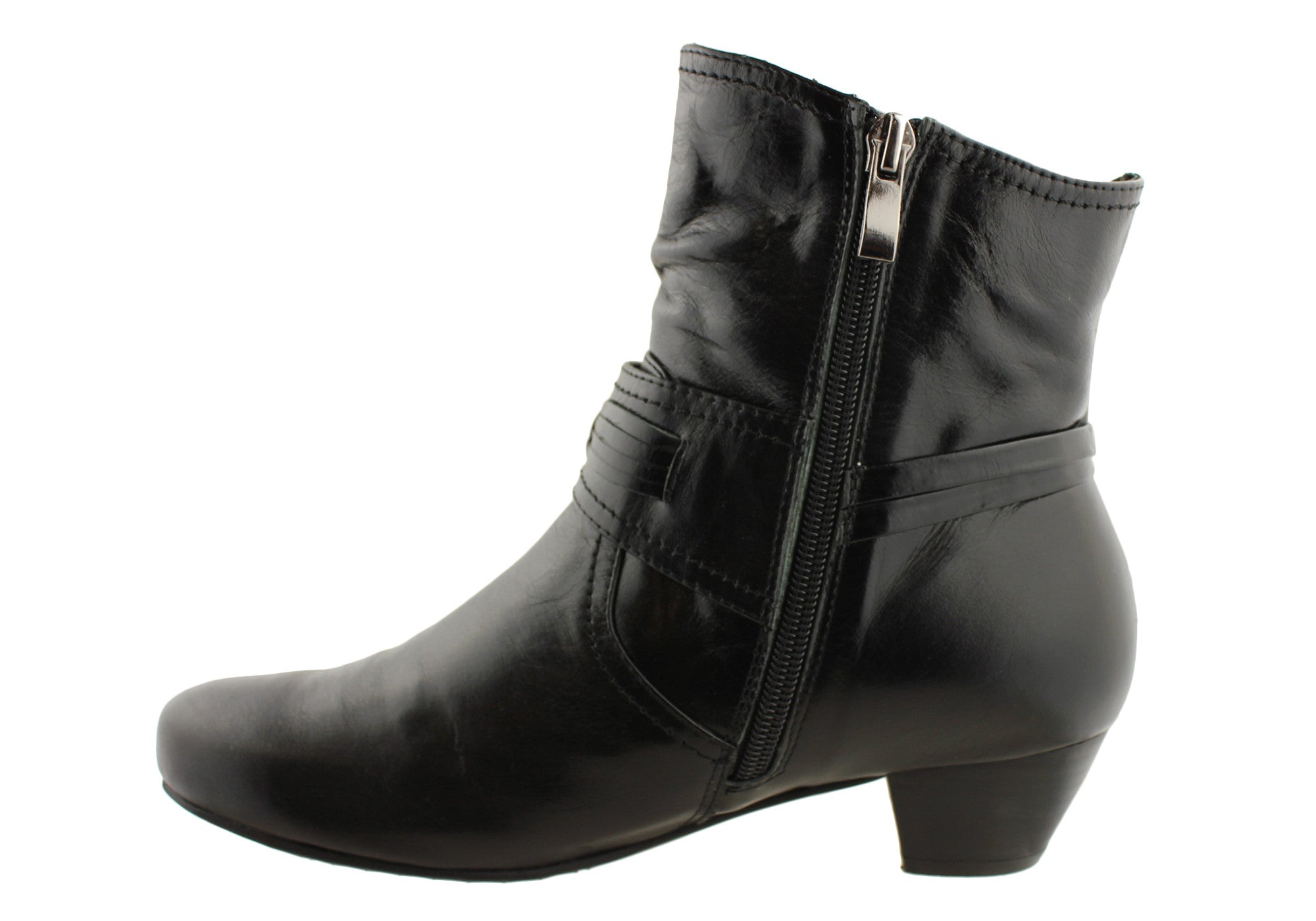 Miss M Amaris Womens Leather Ankle Boots
