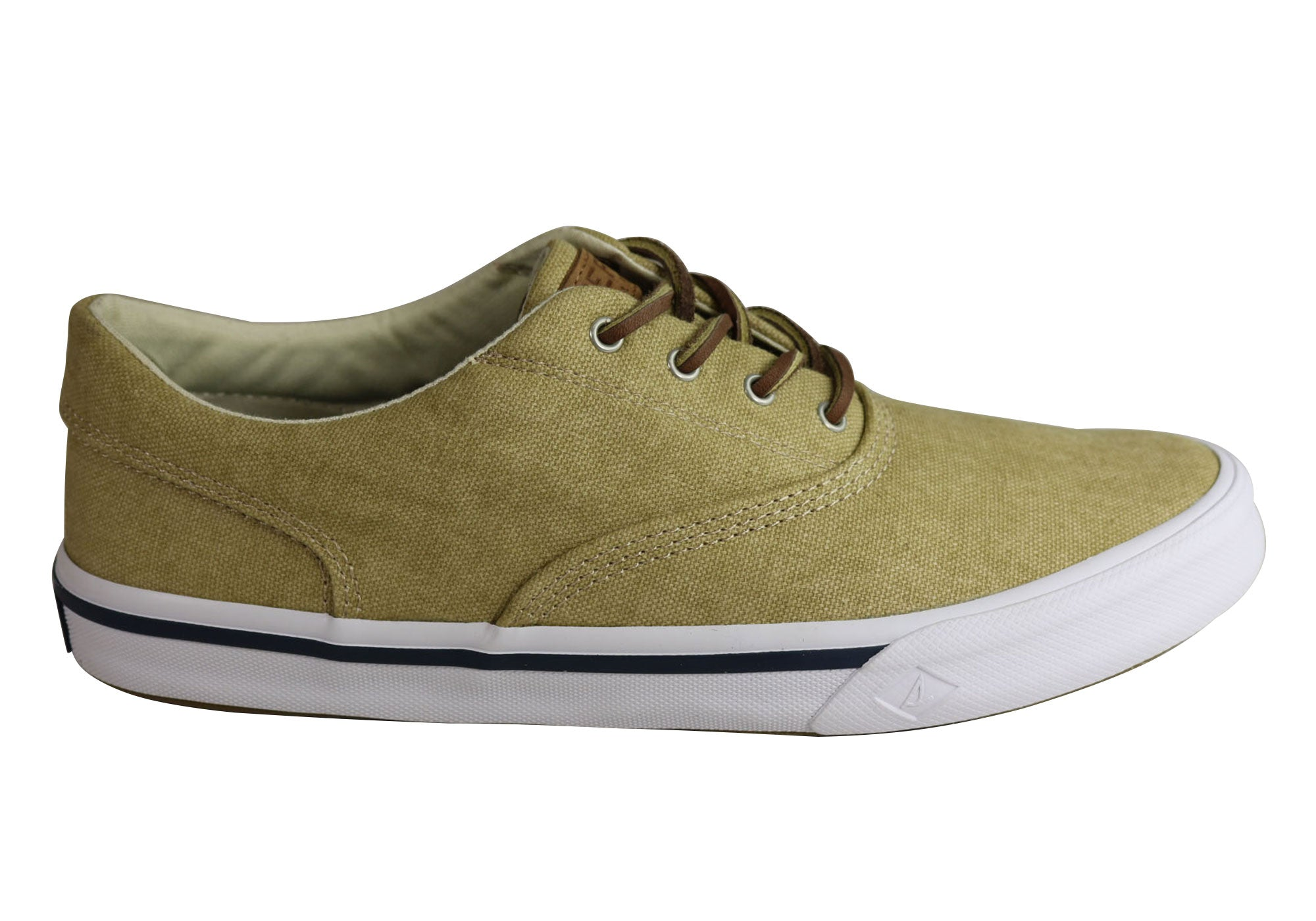 Brand New Sperry Mens Casual Comfortable Striper Ii Cvo Washed Sneaker Shoes