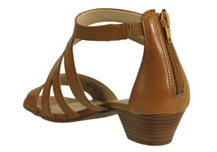 Gino Ventori Leeanne Womens Leather Low Heel Sandals