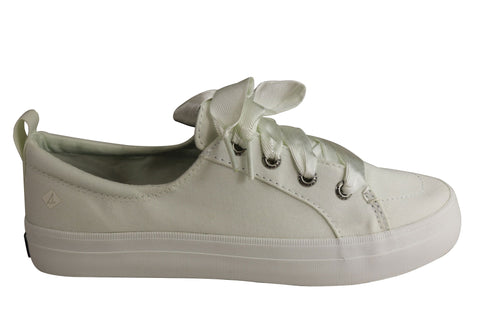 Sperry Womens Comfort Fashion Crest Vibe Satin Lace Sneaker Casuals