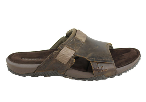 Merrell Terrant Slide Mens Comfortable Leather Sandals