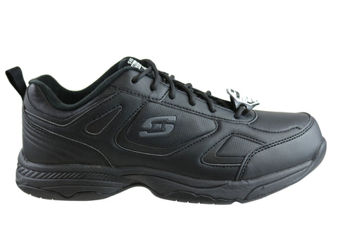 Skechers Dighton Mens Relaxed Fit Slip Resistant Leather Work Shoes