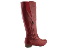 Miss M Arnette Womens Leather Knee High Boots