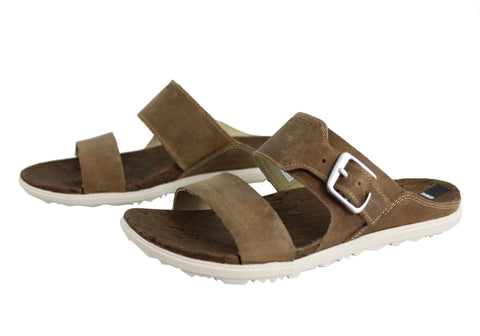 0a704418e4be Merrell Womens Leather Around Town Buckle Slide Comfort Sandals ...