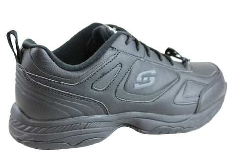 c1c3d5a653a Skechers Dighton Mens Relaxed Fit Slip Resistant Leather Work Shoes ...