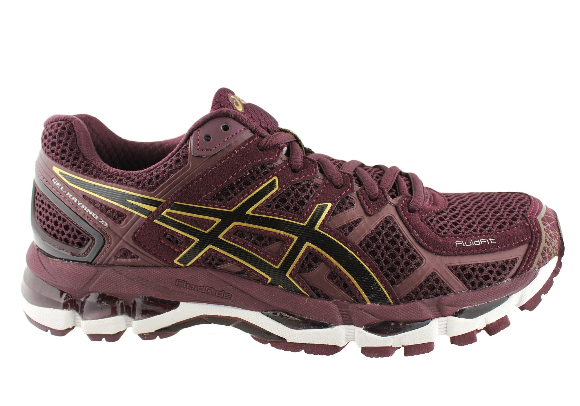 new asics gel kayano 21 womens cushioned running shoes ebay. Black Bedroom Furniture Sets. Home Design Ideas