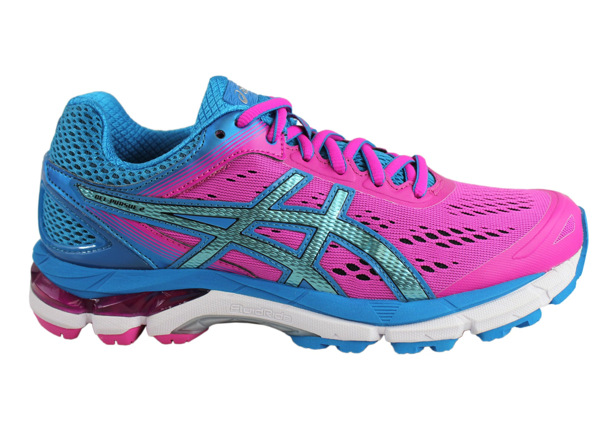 NEW ASICS WOMENS GEL-PURSUE 2 (D) WIDTH WIDE FITTING RUNNING SHOES ... ebb24ad0af7d