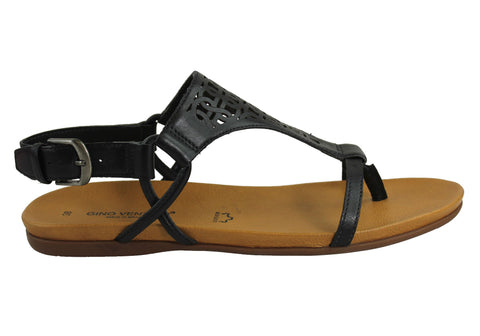 Gino Ventori Nifty Womens Leather Sandals Made In Brazil