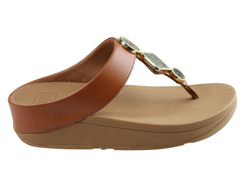 Fitflop Womens Comfortable Leia Toe Thongs Sandals