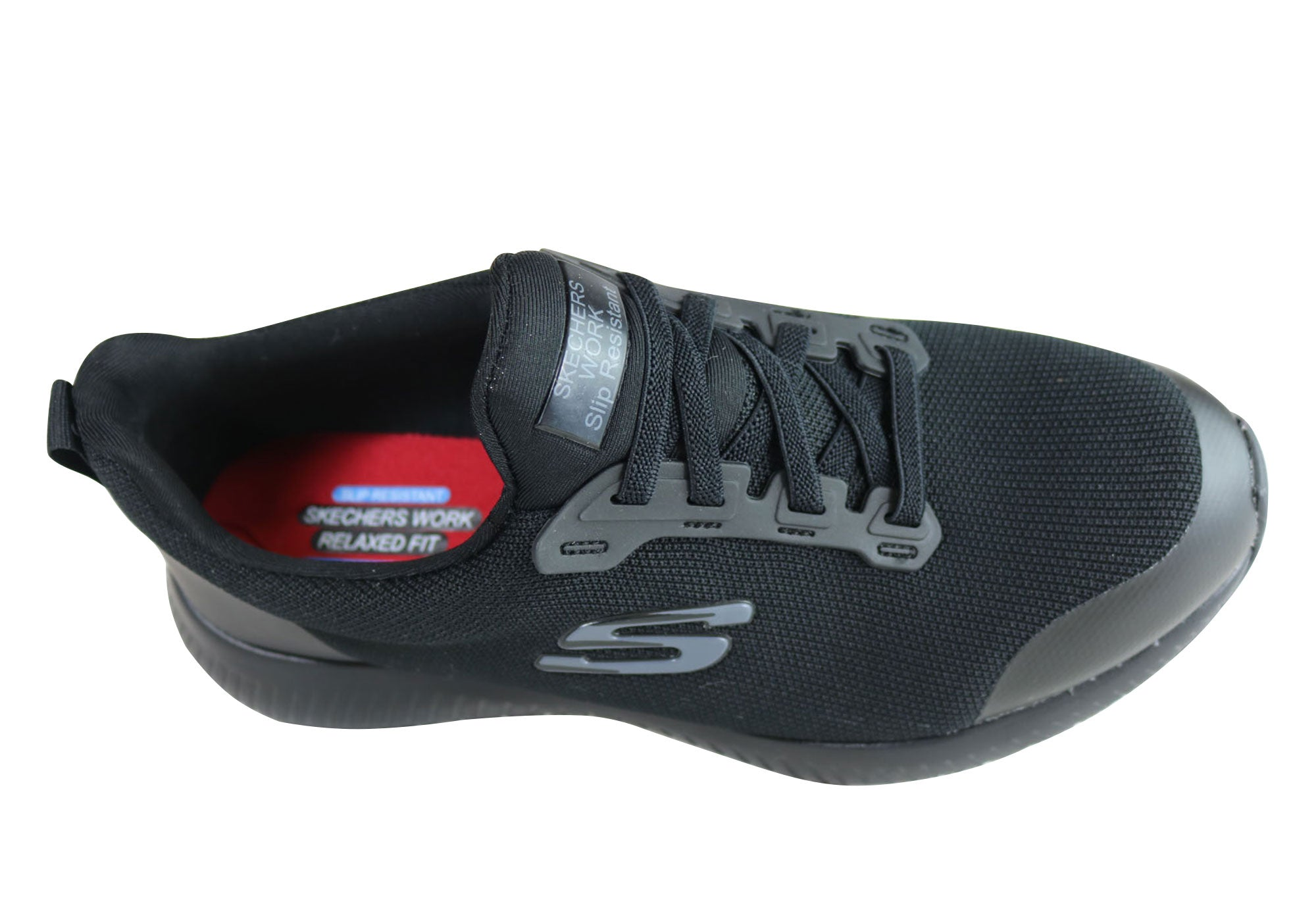 b79dd6c26784 New Skechers Squad Slip Resistant Comfort Memory Foam Work Shoes Womens