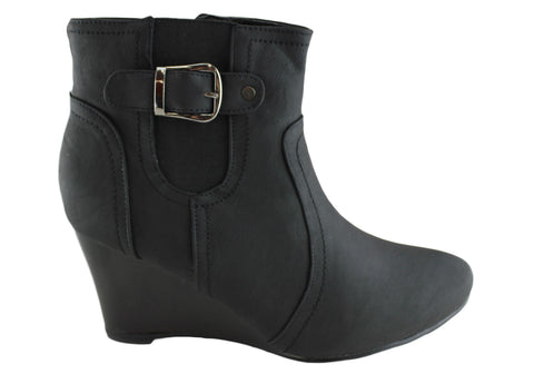 Jasmin Talisa Womens Fashion Wedge Heel Ankle Booties