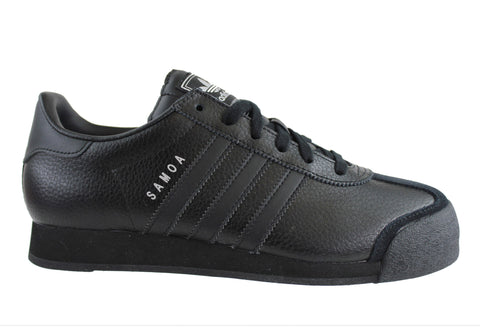 Adidas Originals Samoa Mens Black Leather Shoes