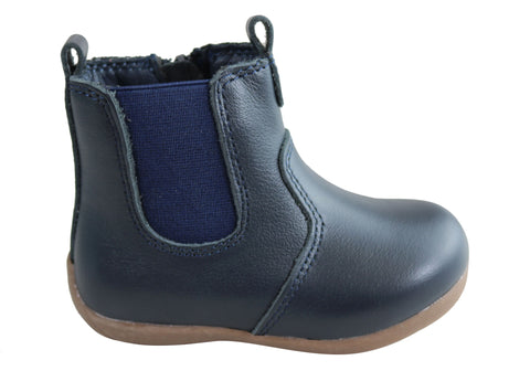 Grosby Leigh Baby Toddler Kids Comfortable Leather Boots