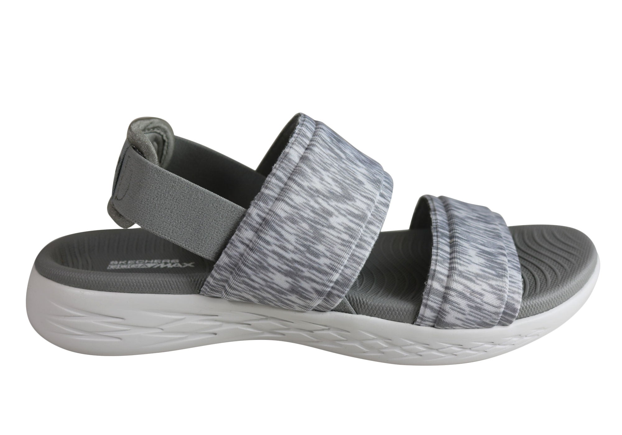 0813d3341007 Home Skechers Womens On The Go 600 Cushioned Comfortable Flat Sandals. Grey  ...
