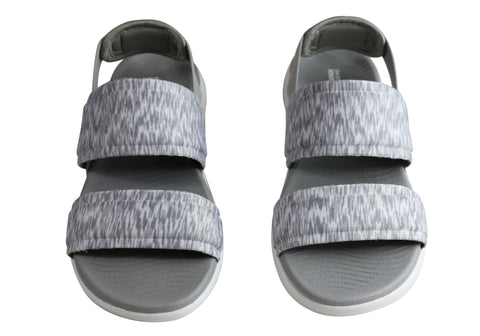 Comfortable Sandals On 600 Skechers Flat Go The Womens Cushioned zwWq7YU