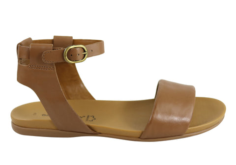 Gino Ventori Cyclone Womens Leather Flat Sandals Made In Brazil