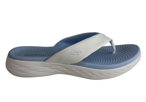 Skechers On The Go 600 Polished Womens Comfortable Flat Thongs Sandals