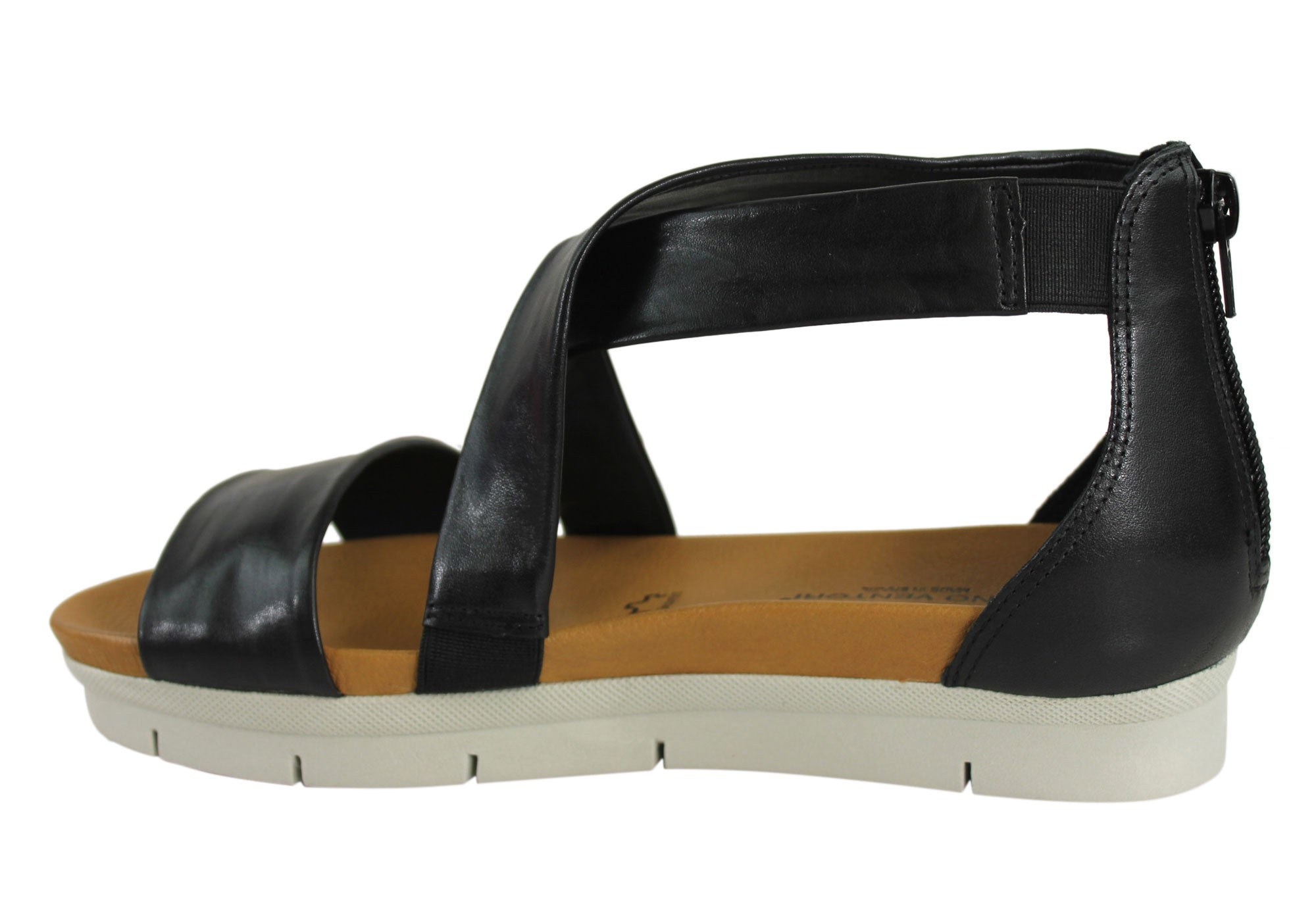 Gino Ventori Lottie Womens Leather Flatform Sandals Made In Brazil