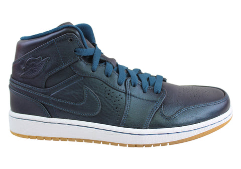 Nike Air Jordan 1 Mid Nouveau Mens Leather Hi Tops