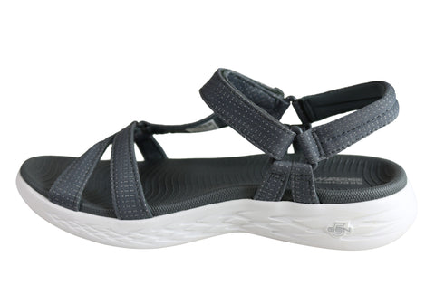 ab6974272772 Skechers Womens On The Go Cushioned Lightweight Comfortable Sandals ...