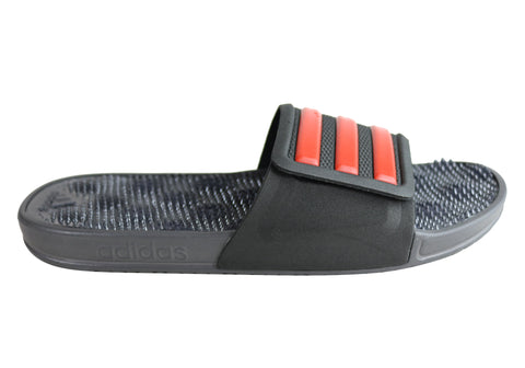 Adidas Mens Adissage 2.0 Stripes Comfortable Slides Sandals